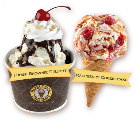 marble slab ice cream
