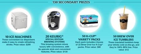 keurig secondary prizes