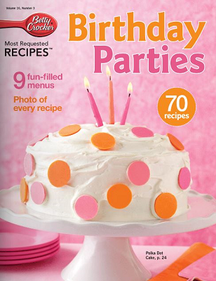 betty crocker birthday recipe book