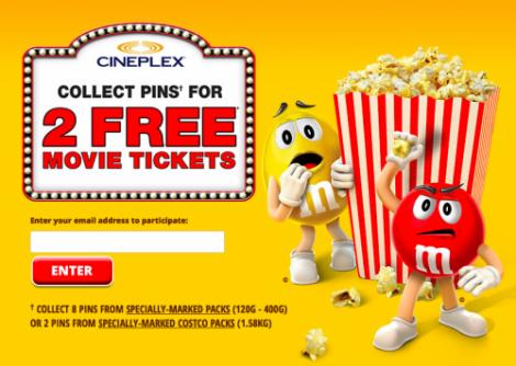 M&Ms movie offer