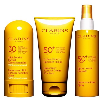 clarins suncare products