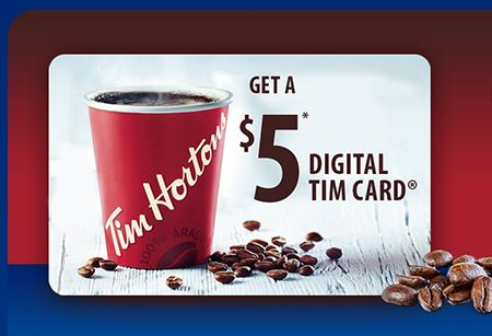 tim horton digital card giveaway