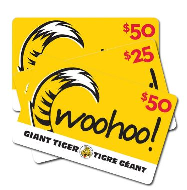 Giant tiger gift cards