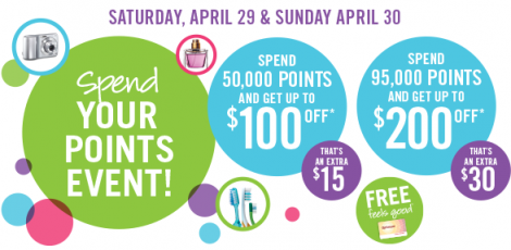 shopper spend points event