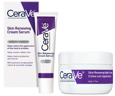cerave serum and night cream