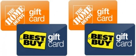 best buy and home depot gift cards