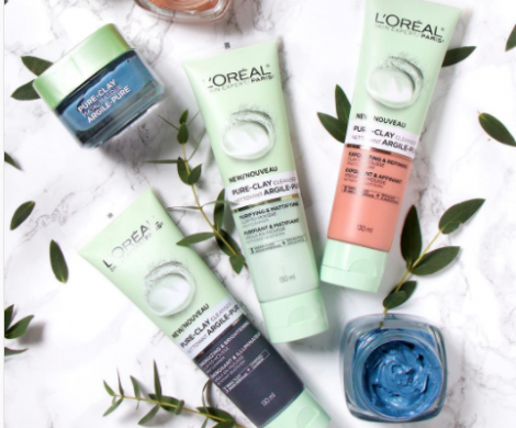 loreal pure clay cleansers