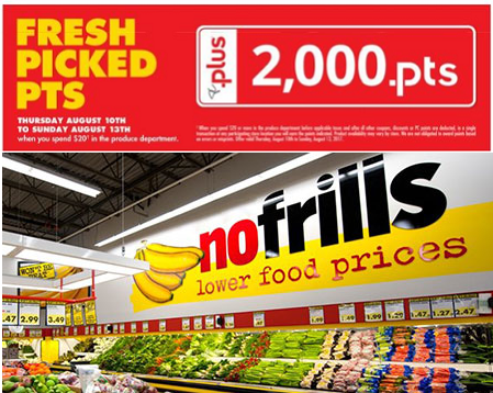 no frills pc plus points