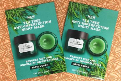 the body shop tea tree mask sample2